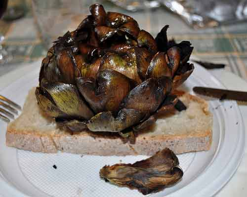 Roman artichokes, a typical roman food.