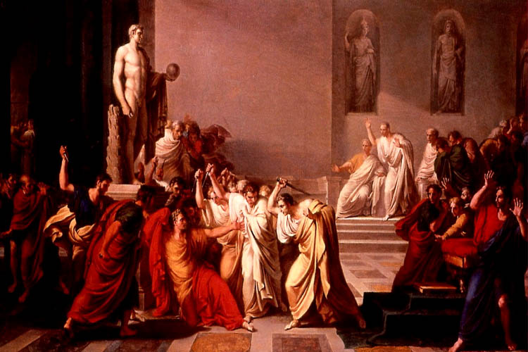Giulio Cesare's assassins. Crininal tour of Rome by Itertours.