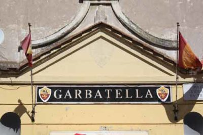 One of the most famous building in Garbatella Rome. Enjoying our food tour in Garbatella