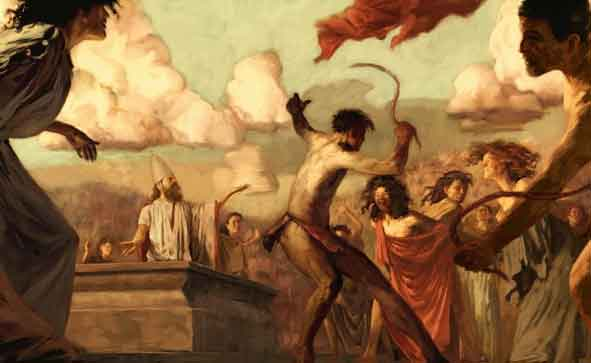 An image of Lupercalia, ritual celebrations of Faunus Lupercus