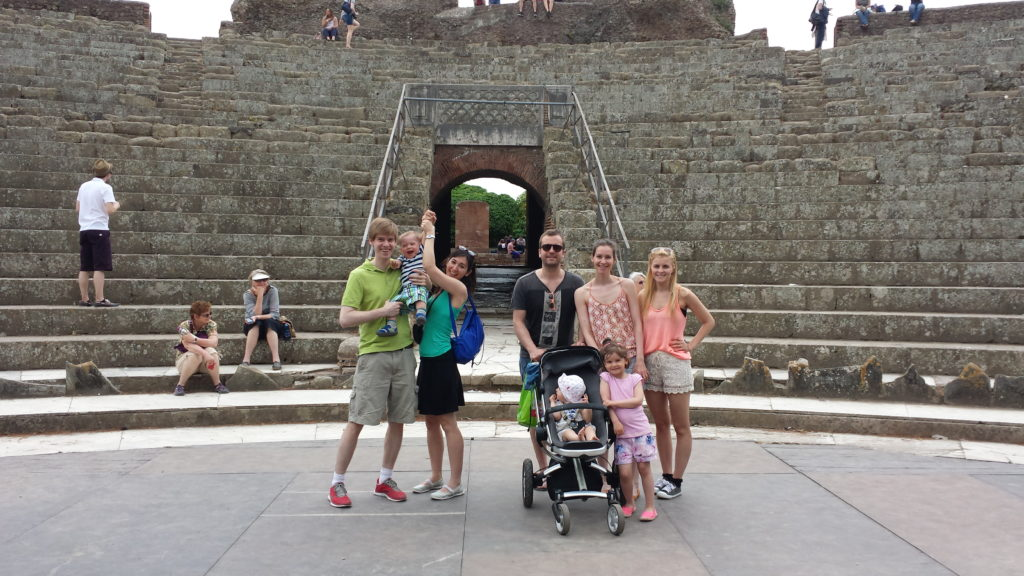 Family fun at Ostia Antica