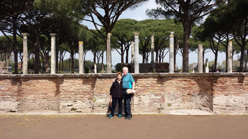 Inside the Theater house of Ostia Antica