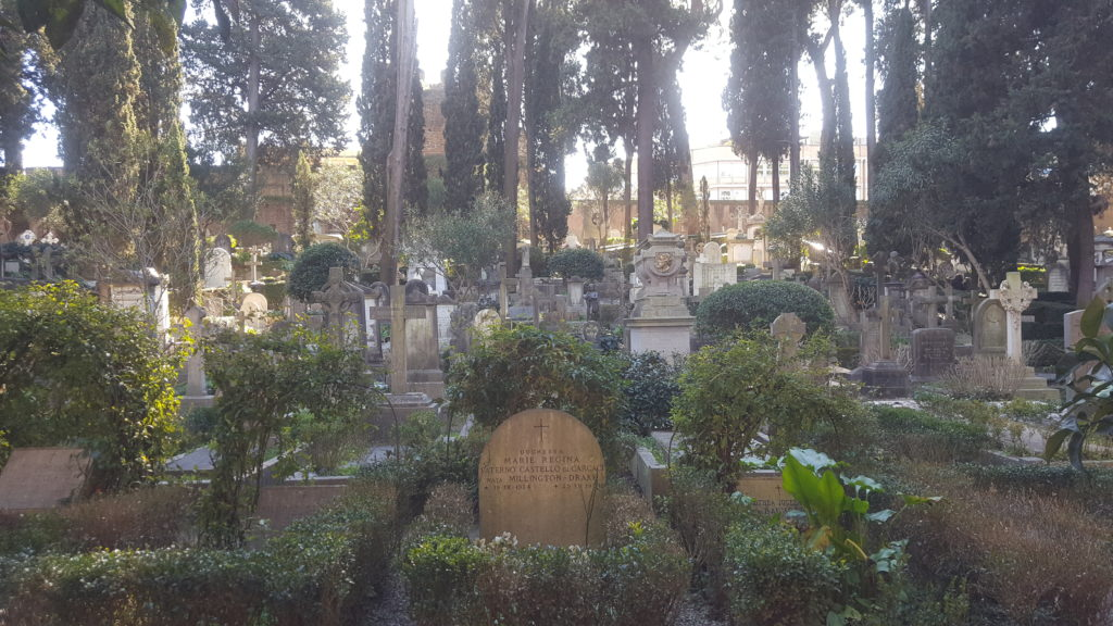 The non Catholic Cemetary in Rome