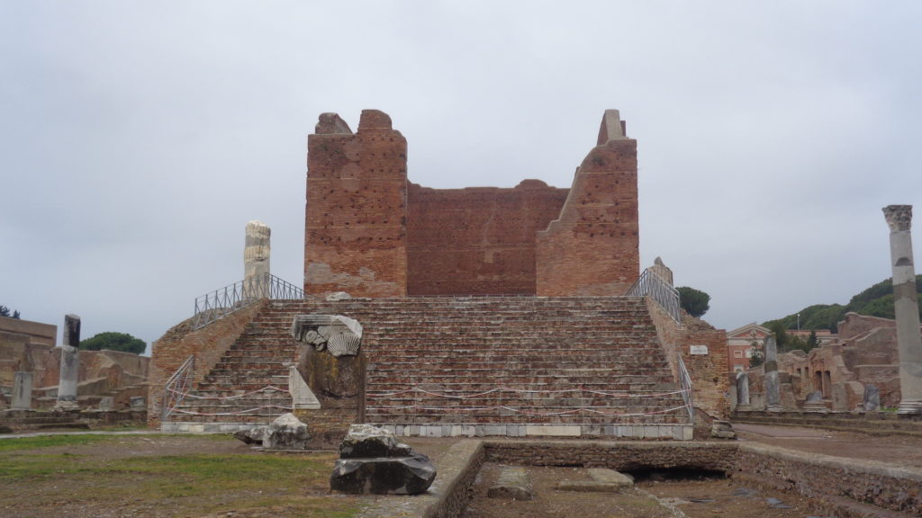 Temple of the Capitolium in Ostia Antica