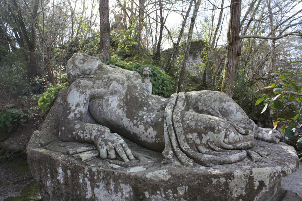 The sleeping Nymph at Bomarzo's park of monsters