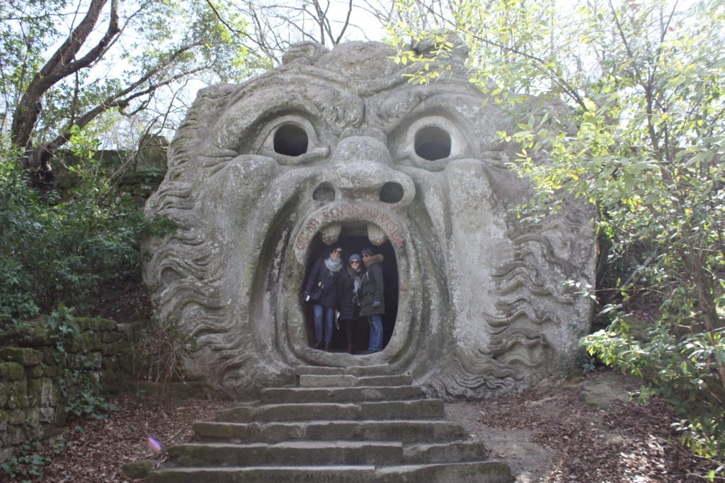 Mouth of the Orge at Bomarzo's sacred park