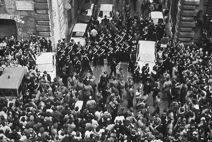 Via Caetani Rome where Aldo Moro's lifeless body was found a site visited on the Criminal tour of Rome