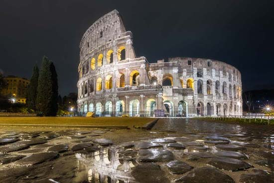 Colosseum at Night Tour of Rome
