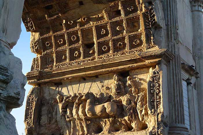 Arch of Titus seen dring our Colosseum tour