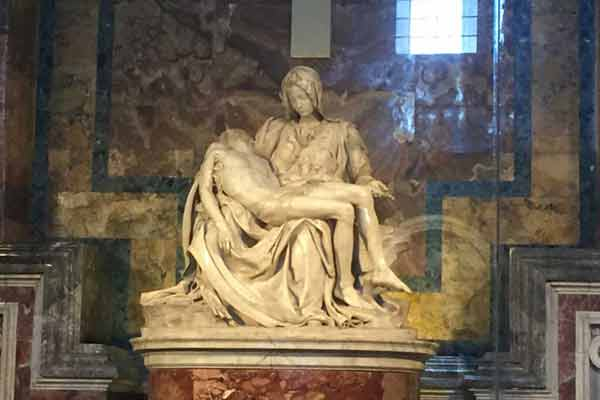 The Pieta' of Michelangelo seen on our Vatican Museums tour